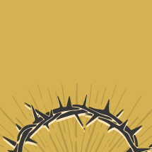 hand drawn crown of thorns with sunburst.