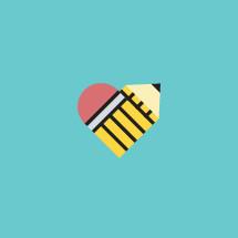 heart pencil