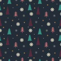 Christmas tree and snowflake pattern