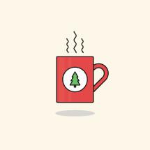 steaming Christmas mug