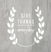 Give thanks everyday
