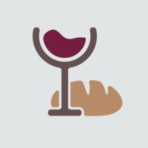 bread and wine vector icon