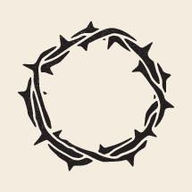 crown of thorns illustration.
