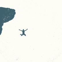 leap of faith  illustration.