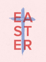 Easter and cross