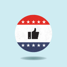 vote thumbs up button