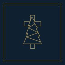 Christmas tree with cross