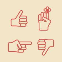 hands icon set, promise, remember, reminder, thumbs up, thumbs down, approval, disapproval, pointing, icons, hands