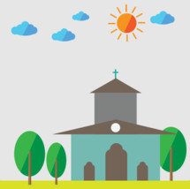 Church scene icon