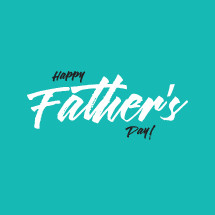 Happy Father's day hand written typography.