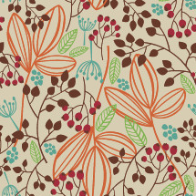 fall seamless pattern flower background
