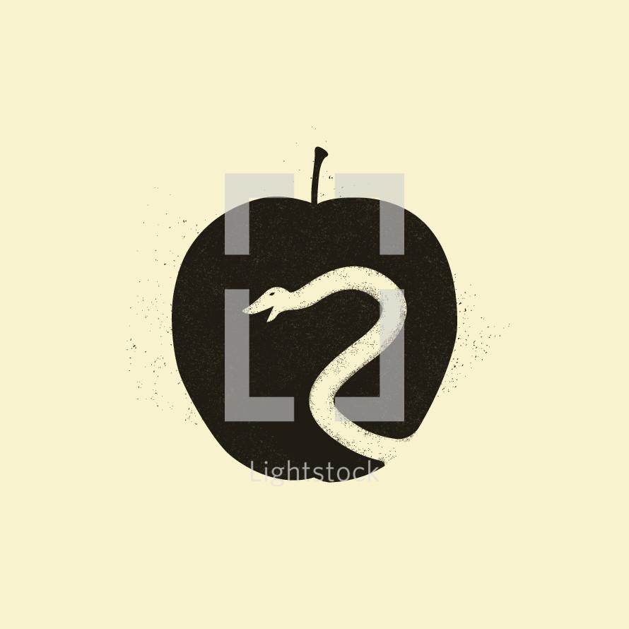 forbidden fruit and serpent