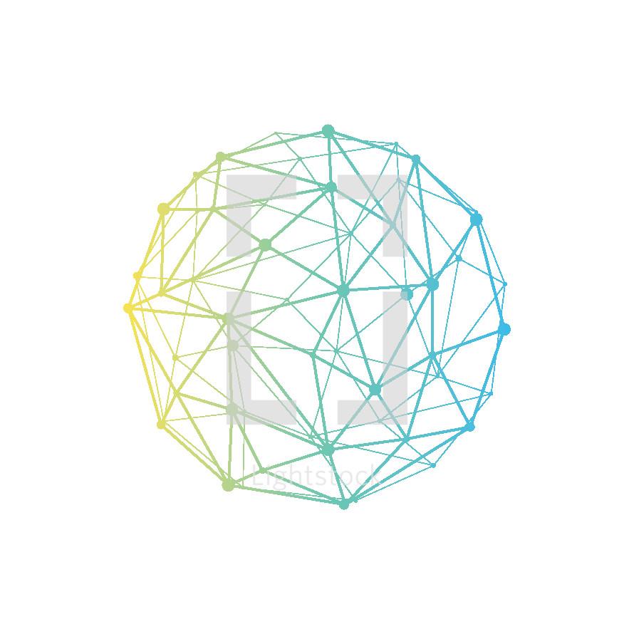 connected globe illustration.