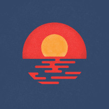 sunset illustration.