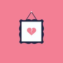 broken heart picture frame