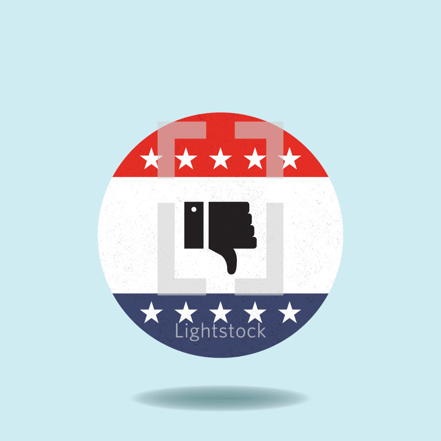 vote thumbs down button