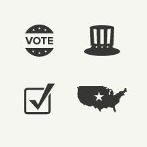 Voting icons.