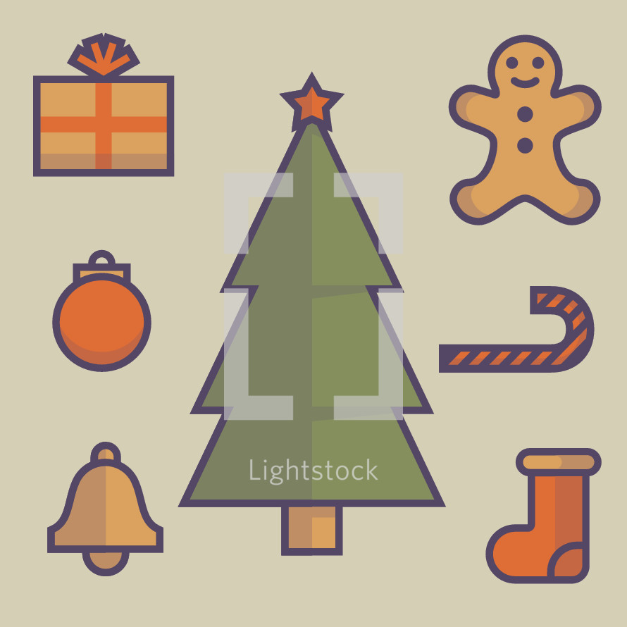 traditional Christmas icons