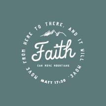 Faith Can move mountains badge