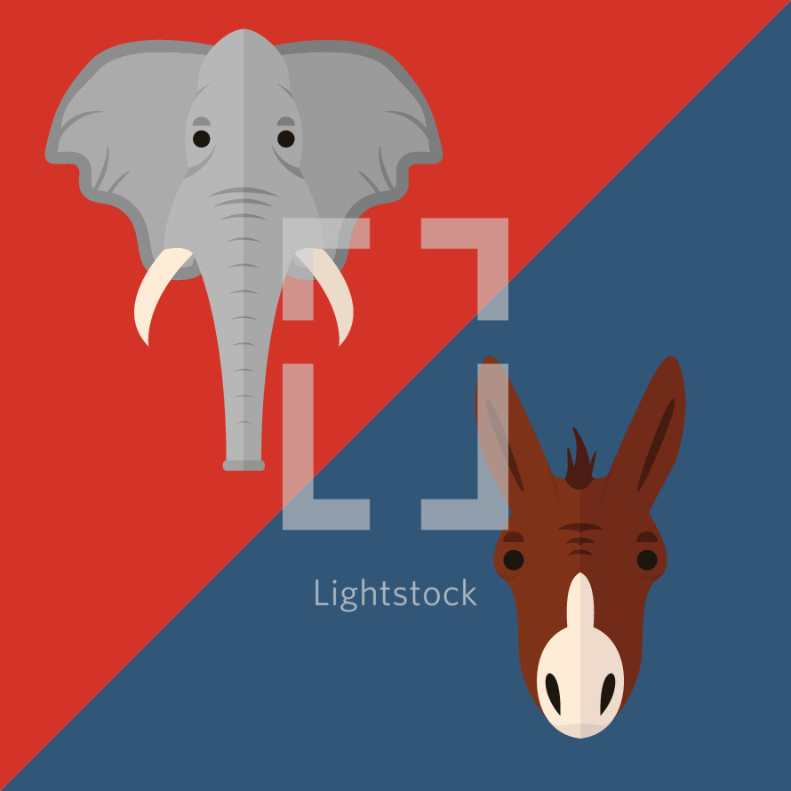 political party symbols illustration.