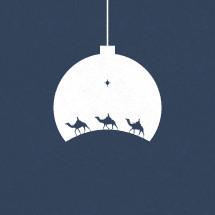 wisemen on a Christmas ornament.