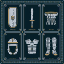 The Full Armor of God Icon set |  Ephesians 6:10-18