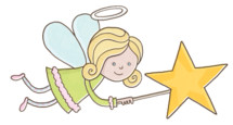 nativity angel with star