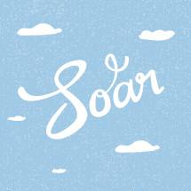 Soar written in the clouds