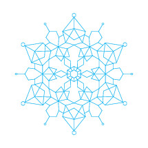 geometric snowflake illustration