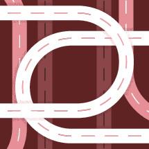 intersecting roads illustration.