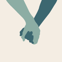 holding hands illustration.