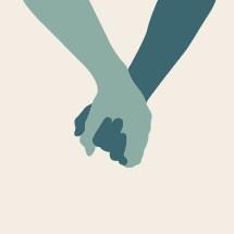 holding hands illustration.
