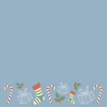 kids Christmas border