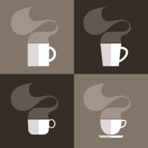 steam, mug, coffee, hot cocoa, tea, cup, icon