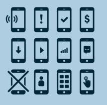Different Cell phone icons
