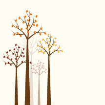 autumn trees illustration.