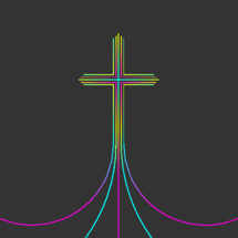 cross of colorful lines