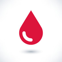 Red blood drop icon in flat style. Graphic element for design saved as an vector illustration in file format EPS