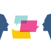 man and woman Conversation icons