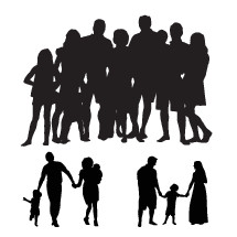 extended family silhouette