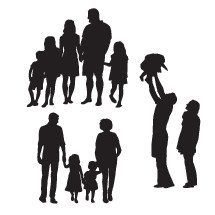 extended family silhouettes