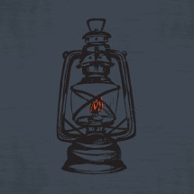 sketched illustration of a flame burning inside lantern.