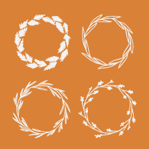 wreaths illustration.