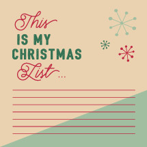 This is my Christmas list