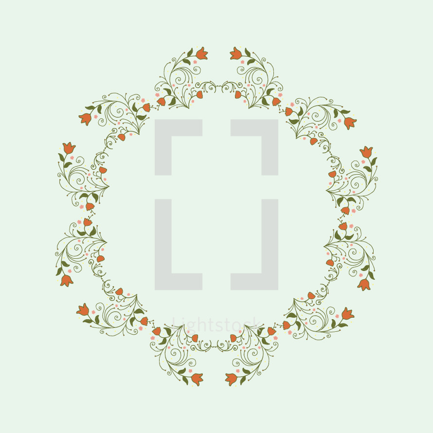 floral wreath illustration.