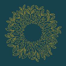 mustard spring wreath