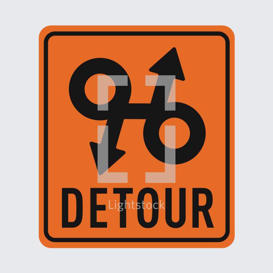 Confusing Detour Sign