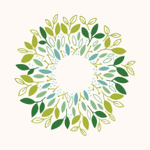 spring wreath icon