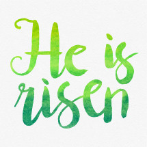 Vector Easter watercolor lettering.