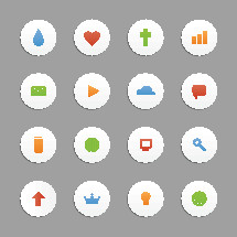 Church media website icons.